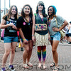 Left to right; Marley, Sara, Brianna and Andrea hang out while Brianna gives out free hugs