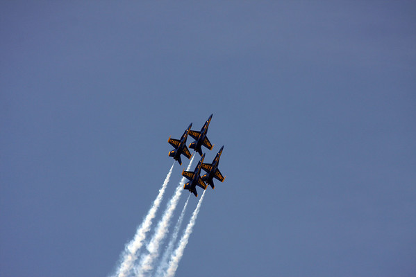 Blue Angels perform at the 2008 National Cherry Festival in Traverse City Michigan.