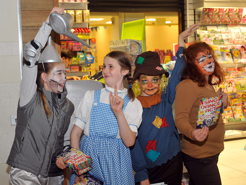 Members of the Independent Theatre Workshop get into the spirit of 'The Wizard of Oz'. <br /> Performers L to R: Sarah Poynton, Éabhan Murphy, Katie Killarney and Eve McDermott.<br /> <br /> <br /> An Cathaoirleach Cllr Carrie Smyth launched Nutgrove Arts Fest 2013 on Thursday 26 September 2013. The event took place from 6.30pm to 8.30pm and included Musicians Shannen Byrne & Michéal Smith from Kicking Bird, The Bastable Warren School of Irish Dancing, Bollywood Dance Dublin, Independent Theatre Workshop and RUGS Ukelele Band.