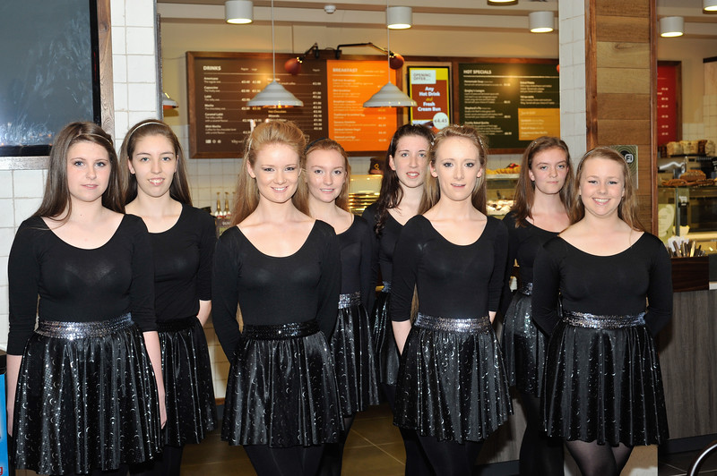Members of the Bastable Warren School of Irish Dancing. L to R: <br /> Shannyn Devoy, Kate McLoughlin, Colleen Murphy, Hannah Mullen, Cressida Cleland, Gráinne Murphy, Hannah McCarthy and Katie Hackett.<br /> <br /> An Cathaoirleach Cllr Carrie Smyth launched Nutgrove Arts Fest 2013 on Thursday 26 September 2013. The event took place from 6.30pm to 8.30pm and included Musicians Shannen Byrne & Michéal Smith from Kicking Bird, The Bastable Warren School of Irish Dancing, Bollywood Dance Dublin, Independent Theatre Workshop and RUGS Ukelele Band.