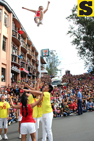 Acrobatic performers of San Miguel Brewery Inc.