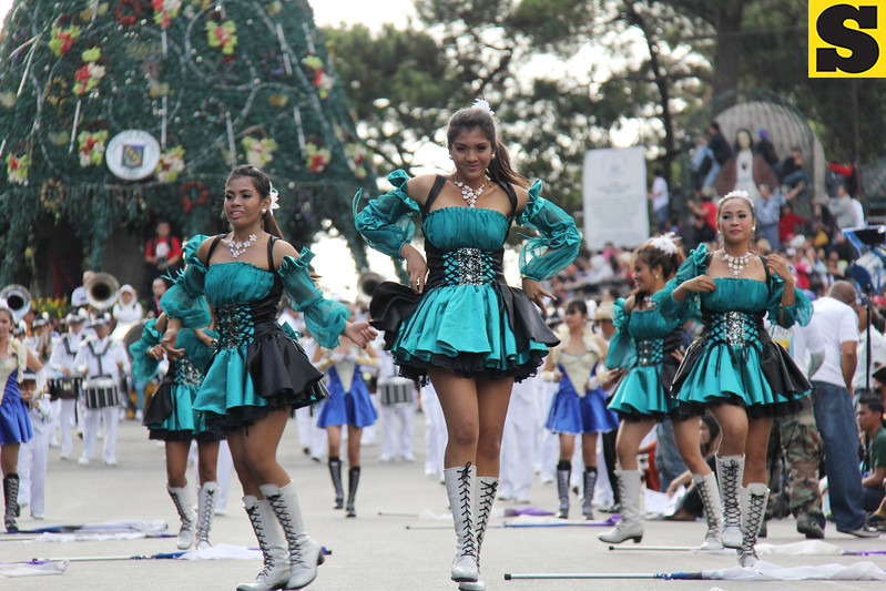 University of Luzon drum and bugle corps.