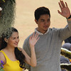 Kapuso stars Marian Rivera and Alden Richards join Panagbenga 2014 float parade