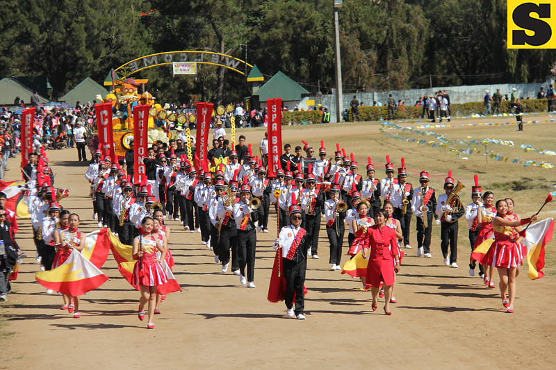 Baguio City National High School joins Panagbenga float parade 2014