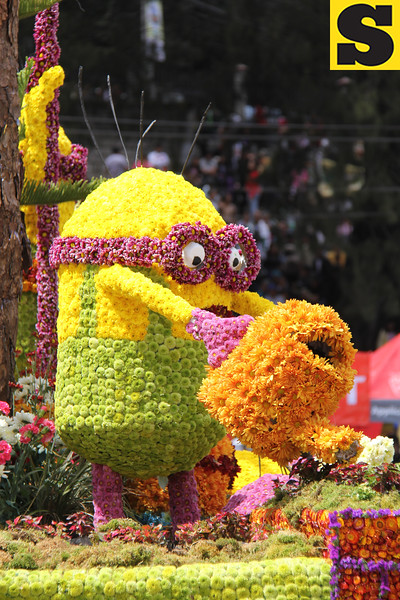 Minion onboard Baguio City Government Panagbenga float