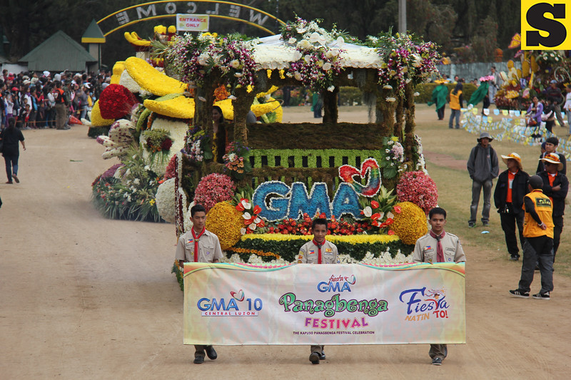 GMA Network Inc. joins Panagbenga 2014 float parade