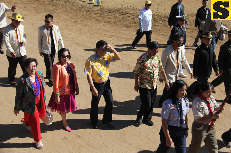 Baguio City Government officials lead the Panagbenga 2014 Grand Float Parade