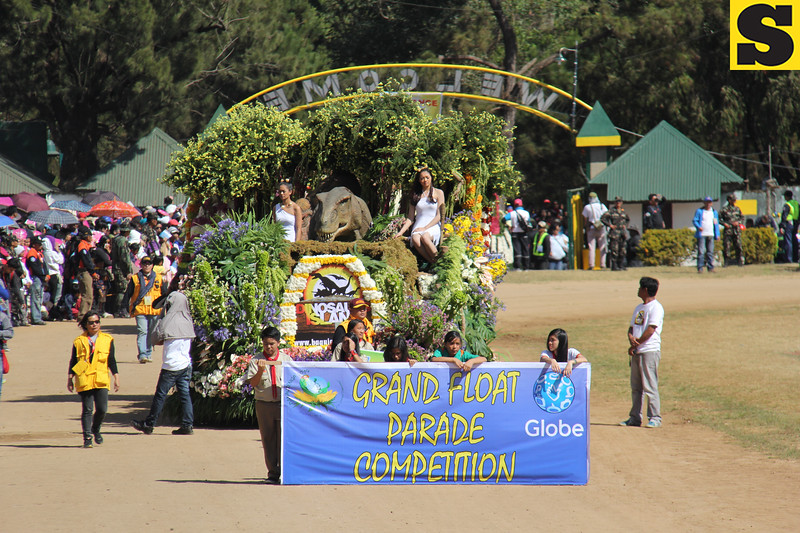 Panagbenga  2014 Grand Float Parade competition held on February 23, 2014 in Baguio City.