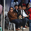 Thailand officials and representatives watch Panagbenga 2014 float parade