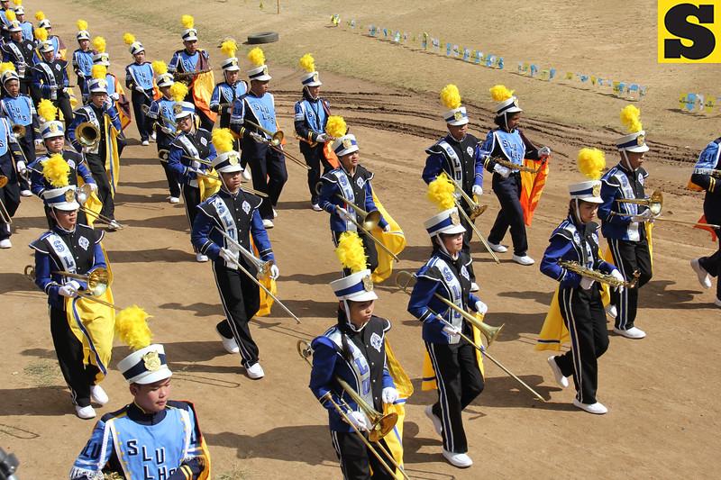 Saint Louis University Band joins Panagbenga street parade