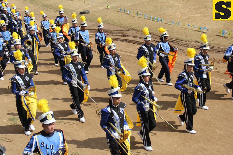 Saint Louis University Band joins Panagbenga street parade