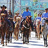 "BENGUET COWBOYS. Governor Nestor Fongwan (left) leads the horse parade with other Benguet officials and pony boys during the ""Dongba ni Kavajo"" as one of the highlights of the ongoing Adivay Festival 2013 coinciding with the 113th Foundation Day of the province of Benguet. (Zaldy Comanda photo)"