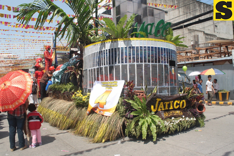CAGAYAN DE ORO. A float from private agency joined Monday's civic military and golden float parade as part of Cagayan de Oro's Kagay-an Festival. (Joey P. Nacalaban)