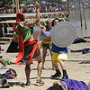 KADAUGAN SA MACTAN 2012. Ferdinand Magellan, played by actor Patrick Garcia (in yellow bloomer-like suit), fight with taller Lapu-Lapu (Richard Quan) during the reenactment of the battle of Mactan. (Photo by Allan Cuizon)
