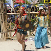 KADAUGAN SA MACTAN. Actors Richard Quan and Geneva Cruz play Datu Lapu-Lapu and wife Bulakna during the reenactment of the Battle of Mactan. (Photo by Allan Cuizon)