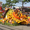 CAGAYAN DE ORO. The float of Concentrix shines during Monday's civic military and golden float parade. (Joey P. Nacalaban)