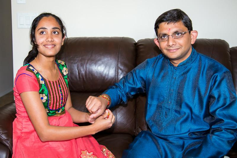 Urvashi Tying her Rakhi as well as Hiral's(Nirali's) Rakhi