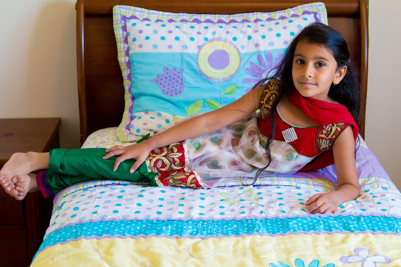 Sakshi in her bedroom