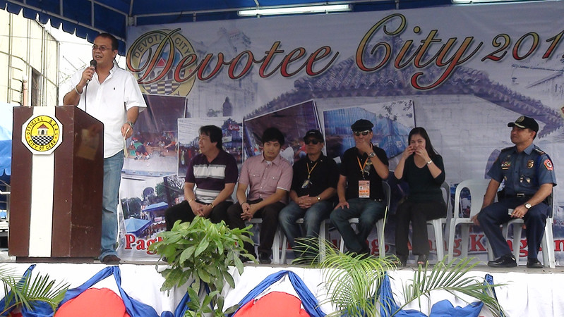 Cebu City Mayor Mike Rama led other City Government officials during the launching of the Devotee City.
