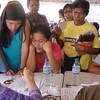 Devotees from Cebu and other provinces register to get their van assignments.