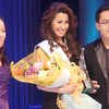 Ms Cebu 2012 candidate #1 Michelle Angelique A. Tan receives the Miss Photogenic award. (Sunnex photo)