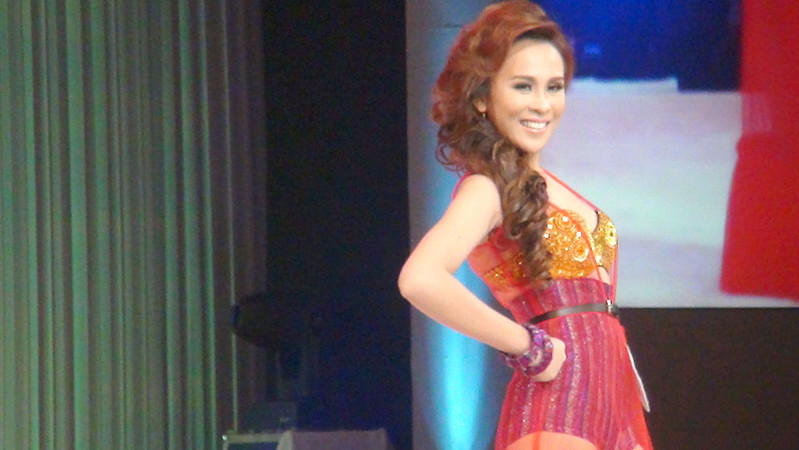 Ms Cebu 2012 Pierre Anther Infante in her swim wear. (Sunnex photo)