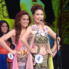 Ms Cebu 2012 candidate #Rachel Chloe T. Palang of the University of the Philippines-Cebu introduces herself while other candidates wait for their turn during the coronation night at Waterfront Hotel Cebu. (Sunnex photo)