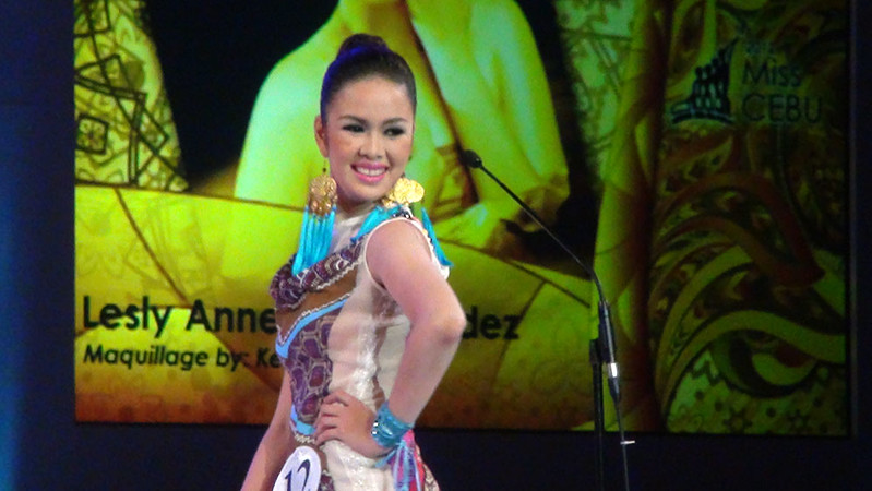 Ms Cebu 2012 candidate #12 Lesly Ane P. Fernandez of the University of San Carlos. (Sunnex photo)