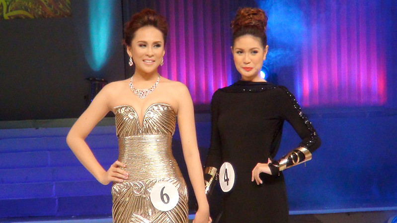 Ms Cebu 2012 Pierre Anther Infante and First Runner-up Rachel Chloe T. Palang. (Sunnex photo)