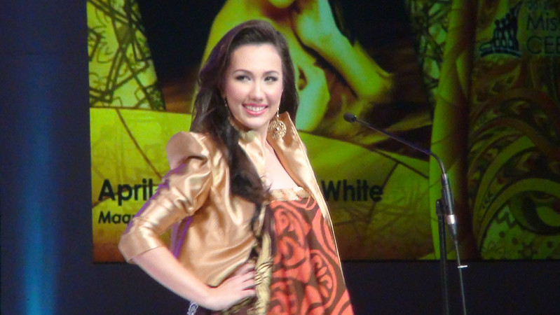 Ms Cebu 2012 candidate #9 April Ann Claire R. White of the University of Cebu -Banilad Campus. (Sunnex photo)
