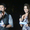 Hosting the Ms Cebu 2012 pre-pageant are MagTV Na host Borgie Cabigas and Ms Cebu 2010 Reena Elena Malinao. (Photo by Jean Mondonedo/Sunnex)