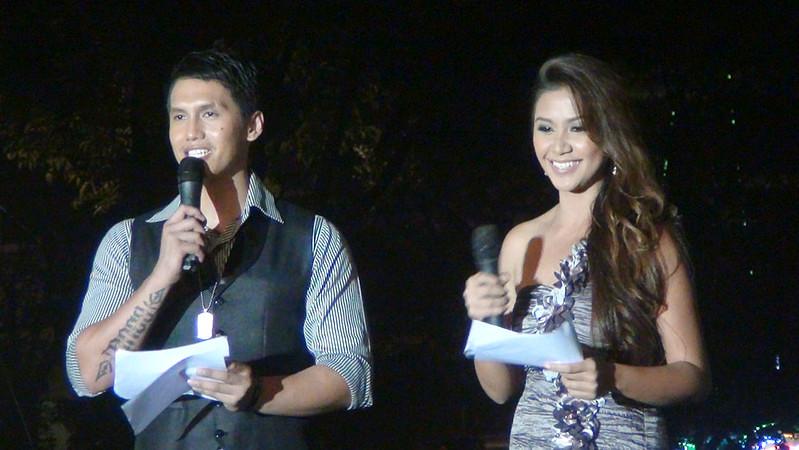 Hosting the Ms Cebu 2012 pre-pageant are MagTV Na host Borgie Cabigas and Ms Cebu 2010 Reena Elena Malinao. (Photo by Jean Mondonedo/Sunnex)