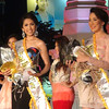 """Ms Cebu 2012 candidates Jonnie Rose Louise """"Jonnie"""" R. Wee and April Ann Claire """"April"""" R. White win the Best in Fun Wear and Premium Concept's Miss Sandee, respectively, during the pre-pageant night at Fuente Osmena, Cebu City, Philippines. (Photo by Jean Mondonedo/Sunnex)"""