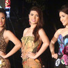 Three of Ms Cebu 2012 candidates wearing their fun wear during the pre-pageant night at Fuente Osmena, Cebu City, Philippines. (Photo by Jean Mondonedo/Sunnex)