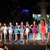 Ms Cebu 2012 candidates during the pre-pageant night at Fuente Osmena circle in Cebu City, Philippines. (Photo by Jean Mondonedo/Sunnex)