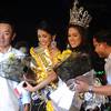 "Best in Fun Wear and Mosbeau's Miss Beautiful of the Night Jonnie Rose Louise ""Jonnie"" R. Wee (2nd from left) receives special awards during the pre-pageant night.  Second from right is Ms Cebu 2011 Mia Zeeba Farridon. (Photo by Jean Mondonedo/Sunnex)"
