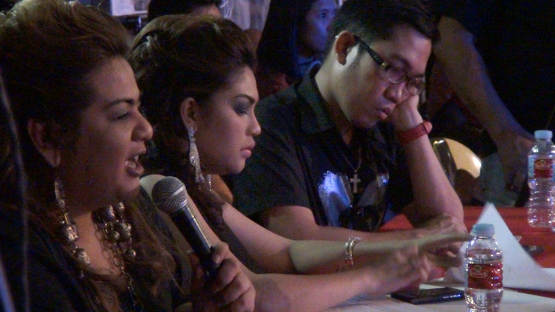 Sinulog Idol 2012 judges. (Sunnex photo)