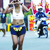 CEBU MARATHON. A runner hams it for the Sun.Star photographer at Gen. Maxilom. (Sun.Star Cebu Photo/Arni Aclao)