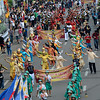 Sinulog dancers from the different schools in Cebu perform in a street parade during the Sinulog 2013 Opening Salvo. (Sun.Star Photo/Amper Campana)