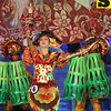 Sinulog Festival Queen 2013 Jamie Herrell, 18, of USJR, representing Tribu Himag-Ulaw of Placer, Masbate performs onstage.