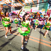 VERY FREE INTERPRETATION.  Not all performers in the street dancing wear traditional Sinulog costumes, as shown by these girls in skimpy outfits. (Sun.Star Photo/Alex Badayos)