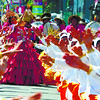 APAS.  The contingent from Barangay Apas performs during the street dancing. Dancers performed or walked for about nine hours total. (Sun.Star Photo/Allan Cuizon)