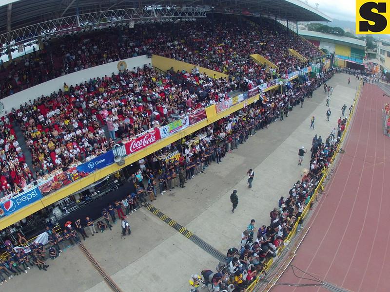 Aerial view of Sinulog 2014 grand parade. (Photo by Julius G. Neri)