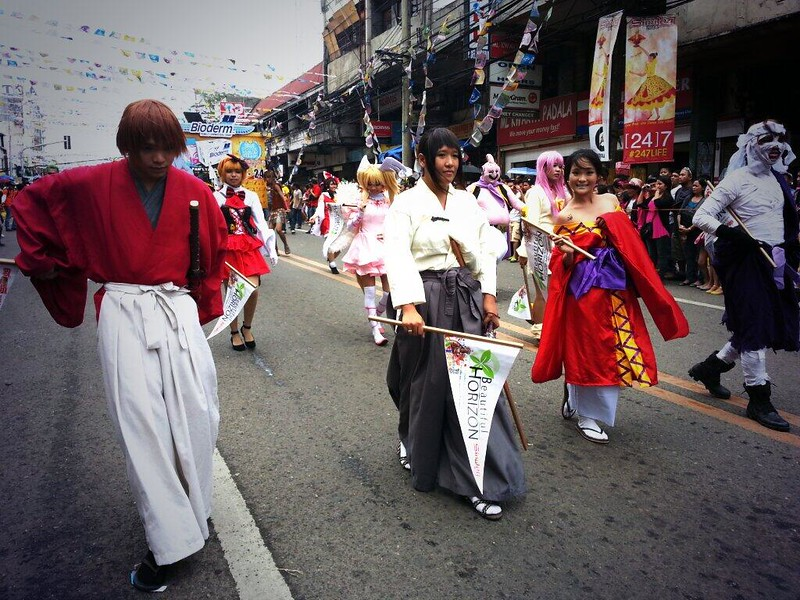 Cosplayers join the Sinulog grand parade.  (Photo by Jean Mondoñedo-Ynot)