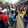 Crowd at P. del Rosario St., Cebu City during the Sinulog grand parade.  (Photo by Jean Mondoñedo-Ynot)