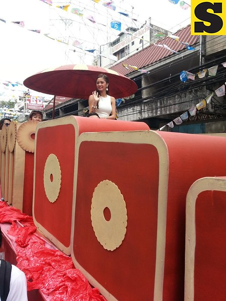 Kim Chui joins Sinulog Grand Parade.  (Photo by Jean Mondoñedo-Ynot)