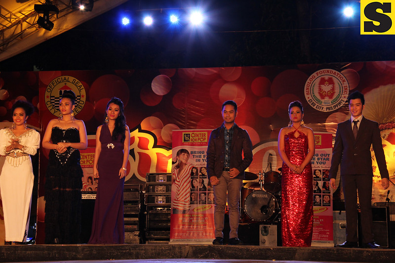 Sinulog Idol Season 5 top 6 finalists: (from left) Ruthsel Cano, Rayllyne Alicaya, Maisee Mariel Fernandez, Michael Jay Morales, Sheila Mae Bucog and Bryan Claudio Deiparine. (Photo by Daryl D. Anunciado)