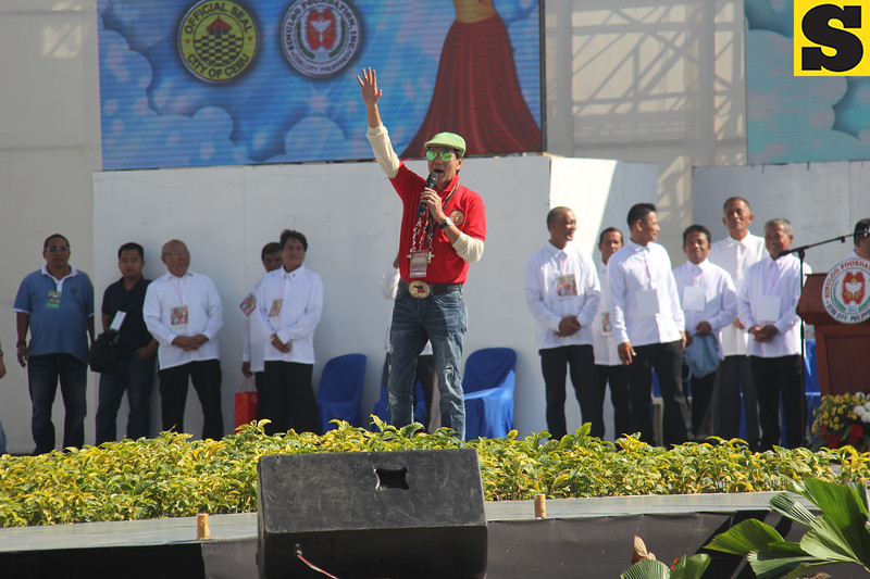 Cebu City Mayor Mike Rama in action during Sinulog 2016