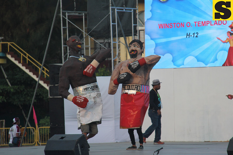 Winston Templado higantes-Manny Pacquiao and Floyd Mayweather during Sinulog 2016