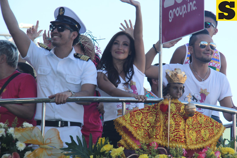 Solenn Heussaff onboard 2Go Group float during Sinulog 2016